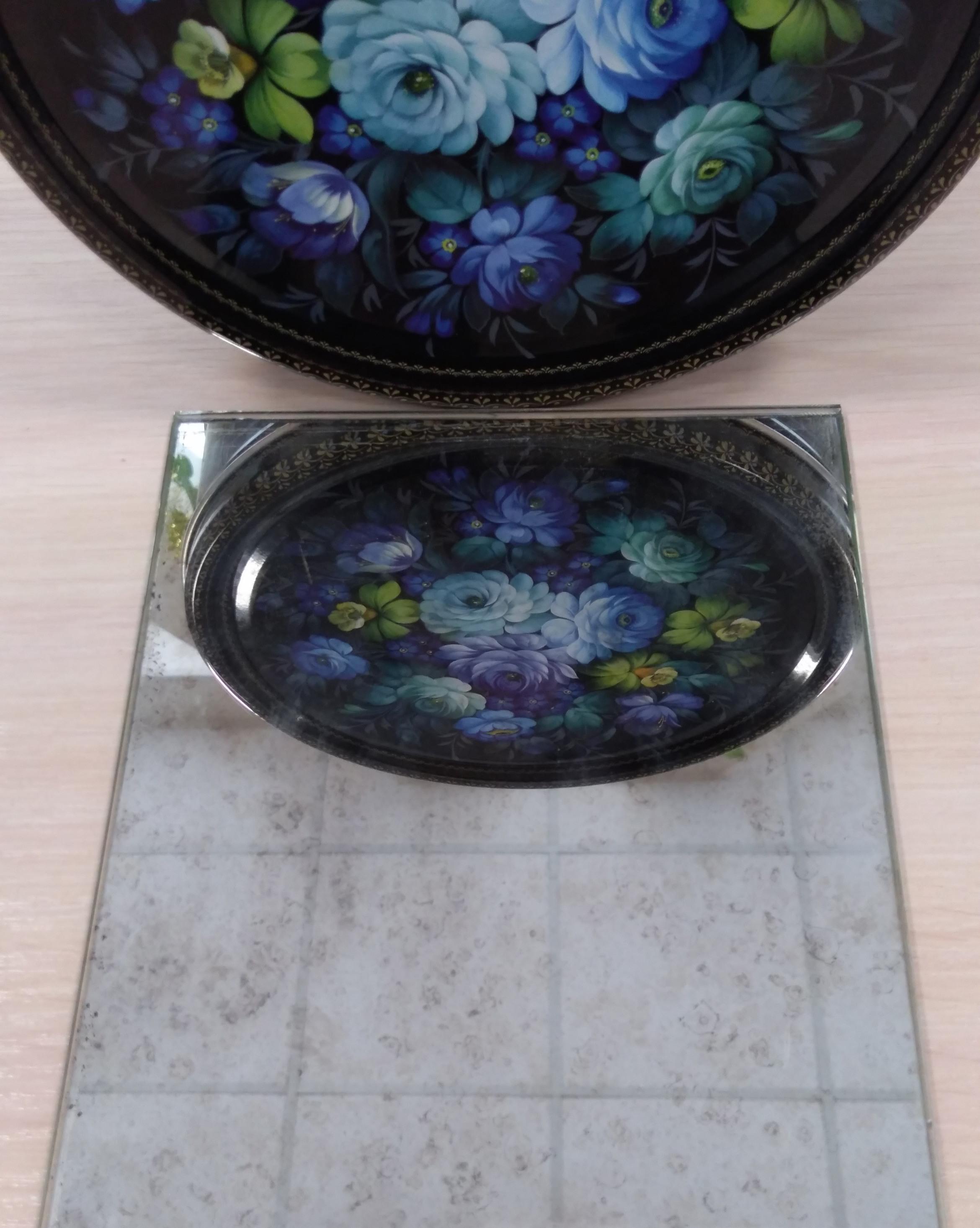 Состаренное зеркало А1 фото 50 см